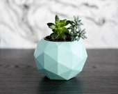 "NEW Lower ""As-Is"" Prices - Concrete Geometric Planter (Geodesic Sphere) - Trinket Dish, Plant/Succulent Pot, Decor, Tealight Holder -"