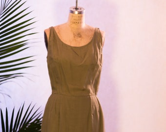 3 in 1 1940's Silk and Sequin Dress