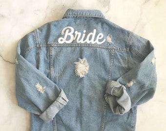 Mrs denim jacket | Etsy
