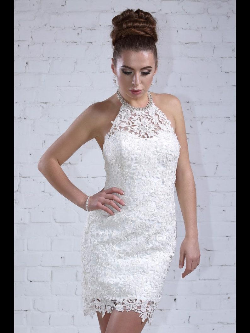 Short Lace Wedding Dress.Wedding Dress Lola Separate Gown Short Lace Wedding Dress With Chiffon Lace Modern Bride Summer Weddiong Dress