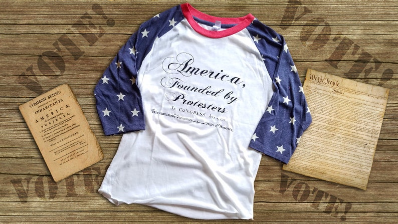 America... Founded by Protesters T-Shirt Alternative Apparel image 0