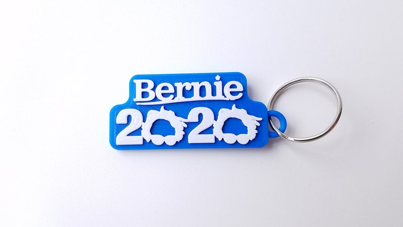 Bernie Sanders 2020 Keychain 3D Printed with Eco-Friendly PLA image 0