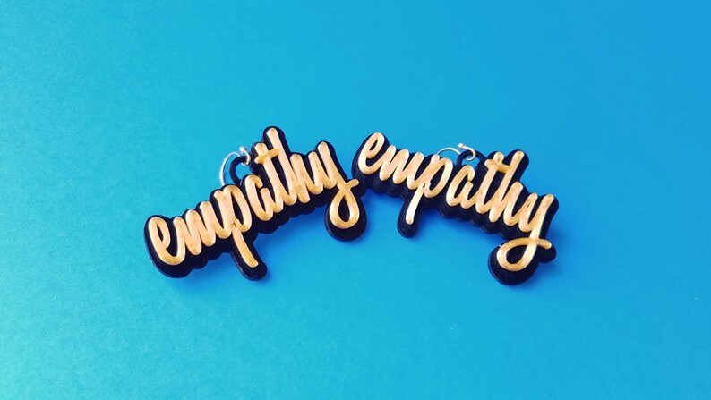 Empathy Earrings with 14k Gold Plated or Stainless Steel image 0