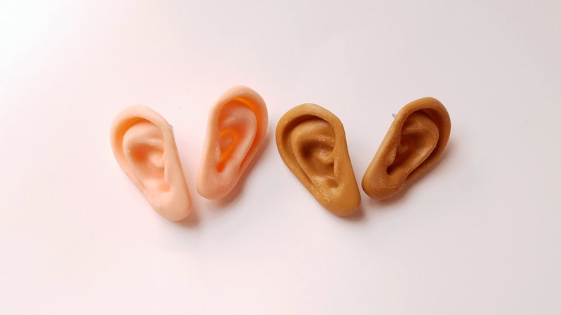 Ears Earrings Post Back Style Dark or Light Skin Tone with image 0
