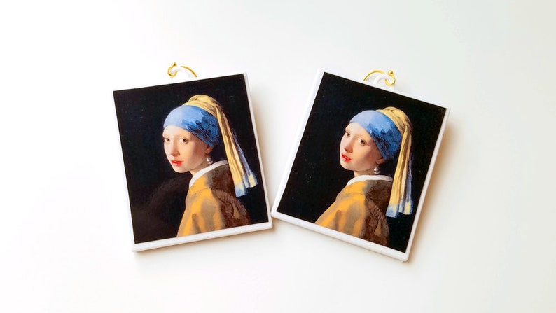 Girl with a Pearl Earring By Johannes Vermeer Earrings with image 0