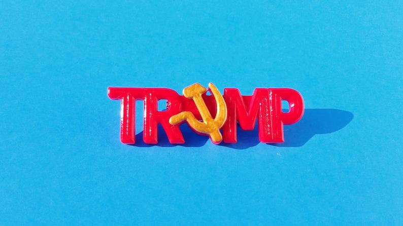 Russian Trump Pin 3D Printed image 0