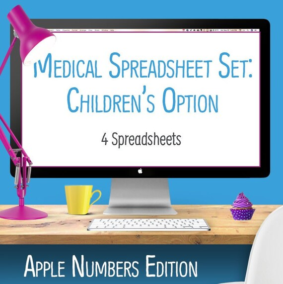 children s medical spreadsheets 4 numbers spreadsheets etsy