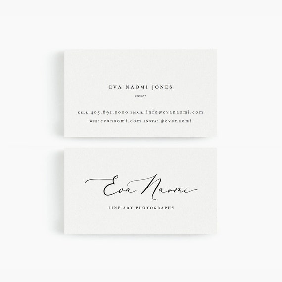 Eva business card template for google drive fine art etsy image 0 flashek Images