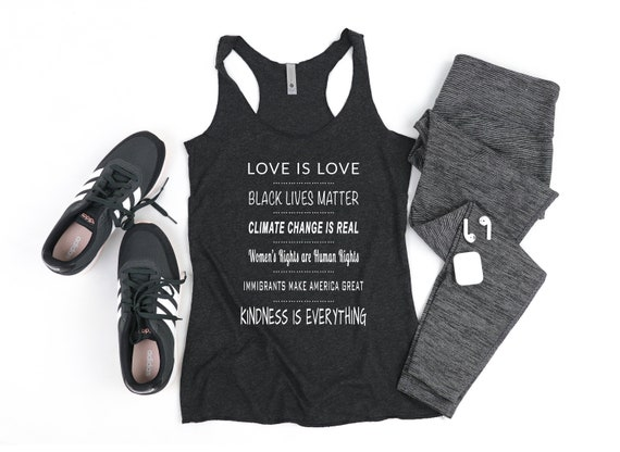 Women/'s Rights Human Rights Liberal Tank Top Climate Change is Real Anti-Trump Tank Top Black Lives Matter Democrat Love is Love