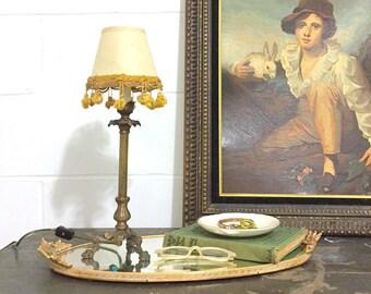 Vintage Brass Candlestick Lamp
