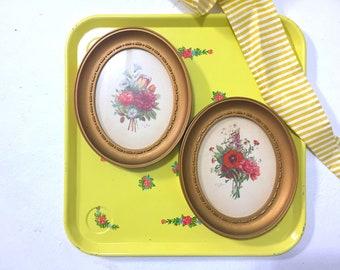 Vintage Jean Louis Prevoist Floral Bouquets