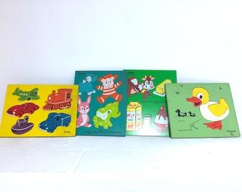 Vintage Playskool Puzzles  Set of Four