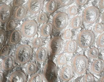 Silk damask fabric by the yard