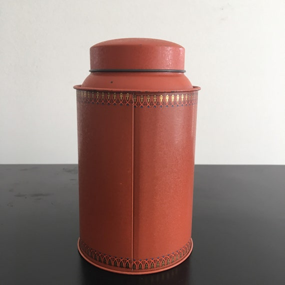 Vintage, Jackson de Piccadilly thé Tin, thé stockage, boîte de thé, cuisine, anglais thé Tin, Jackson