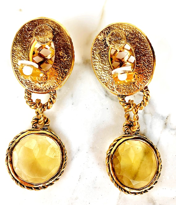 CLAIRE DEVE MASSIVE 80s Vintage French Earrings - image 6