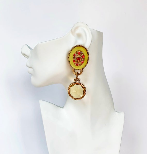 CLAIRE DEVE MASSIVE 80s Vintage French Earrings - image 10