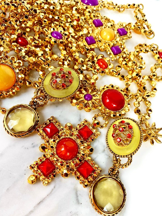 CLAIRE DEVE MASSIVE 80s Vintage French Earrings - image 7