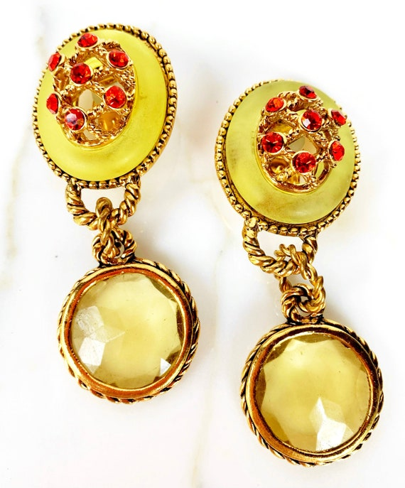 CLAIRE DEVE MASSIVE 80s Vintage French Earrings - image 4
