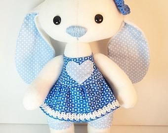 "Easter Bunny, stuffed animal, plush toy ""Blueberry"""