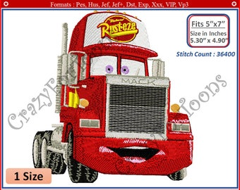 CARS Mack EMBROIDERY DESIGNS All formats