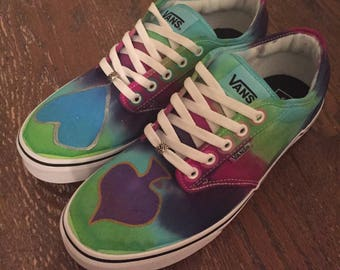 8fe7b531a8 Custom Tie-Dye Vans - Card Suits - Men s 10 Women s 12