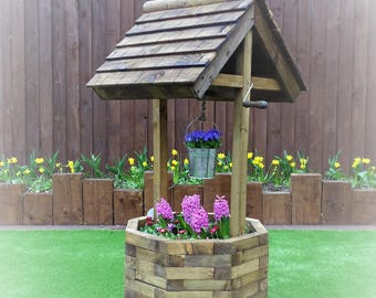 Wedding / Party Card Box 4ft Wishing Well Garden/Wedding
