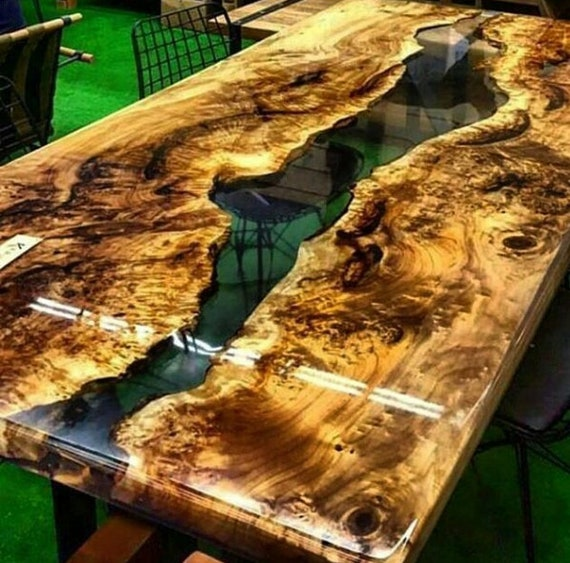 mazel epoxy harz tisch mit mazel epoxy m bel live rand etsy. Black Bedroom Furniture Sets. Home Design Ideas