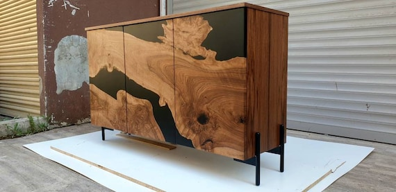 Custom Order for Teresa,walnut epoxy credenza, media console, Sideboard, TV unit, Luxury furniture, Console Tables & Cabinets