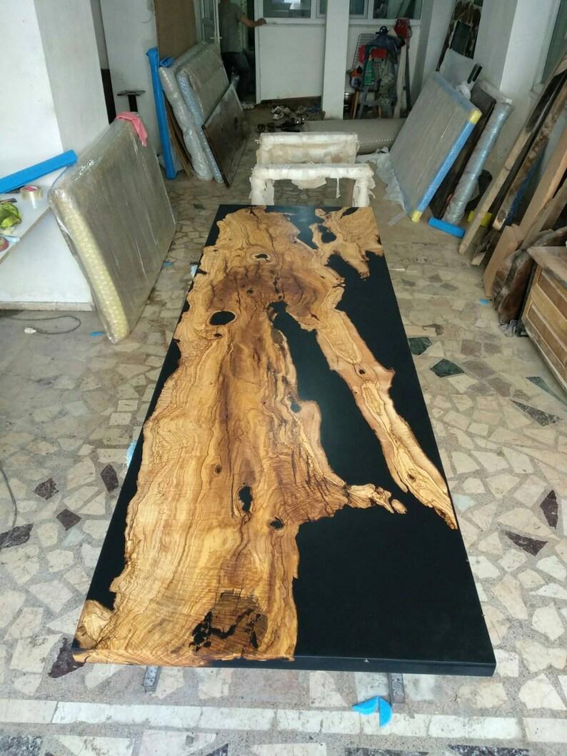 Black resin olive table, CUSTOM ORDER for the US