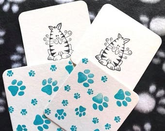 Cat Memory Game - Educational Game - Matching Game - Gifts Under 5 - Quiet Game - Learning Game - Family Game - Hands On Learning -