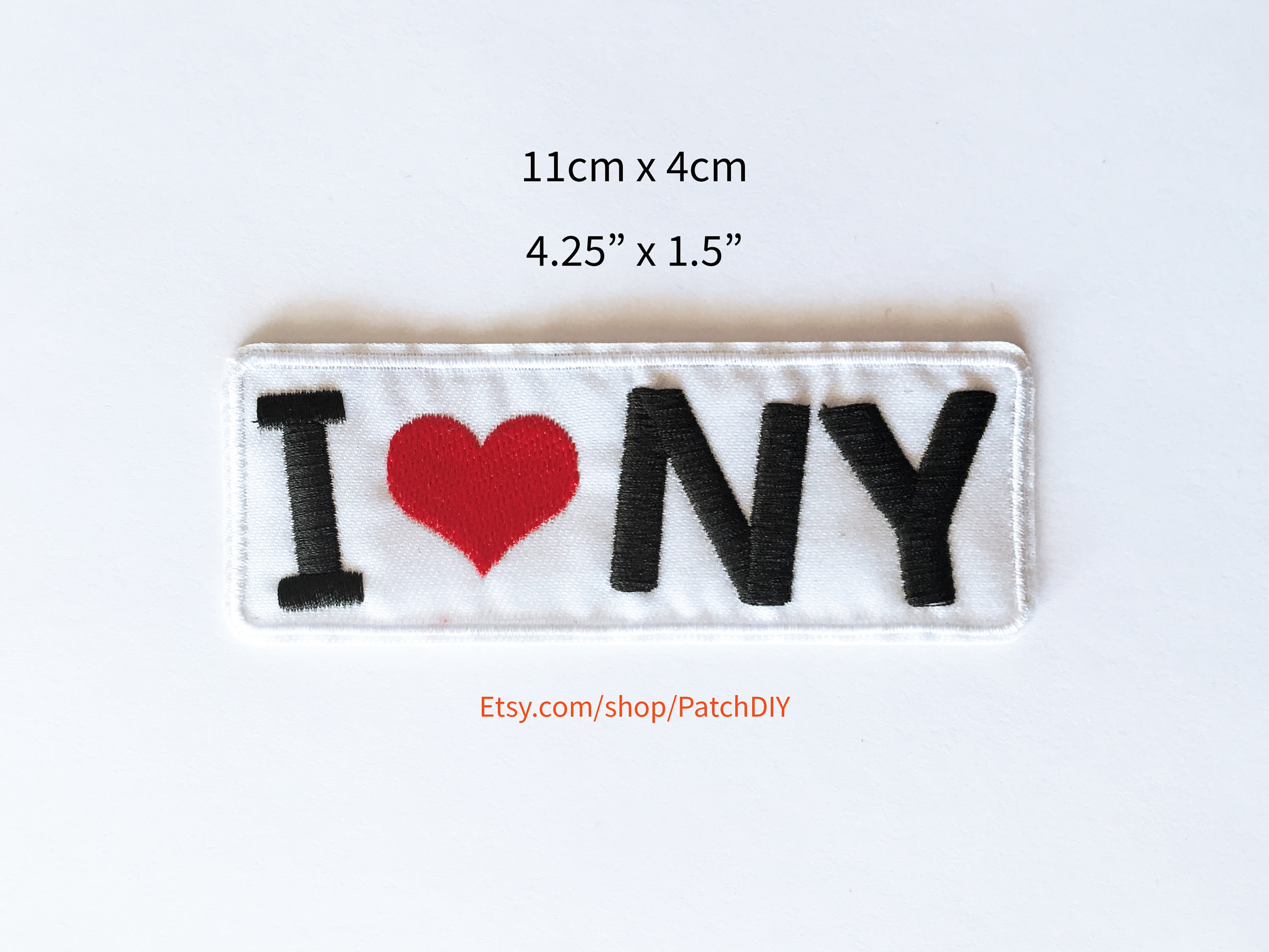 I love ny iron on embroidered patch applique red heart etsy