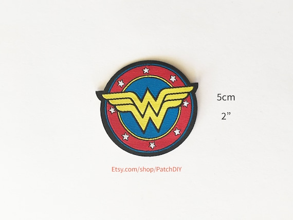 Wonder Woman Iron On Patch Red