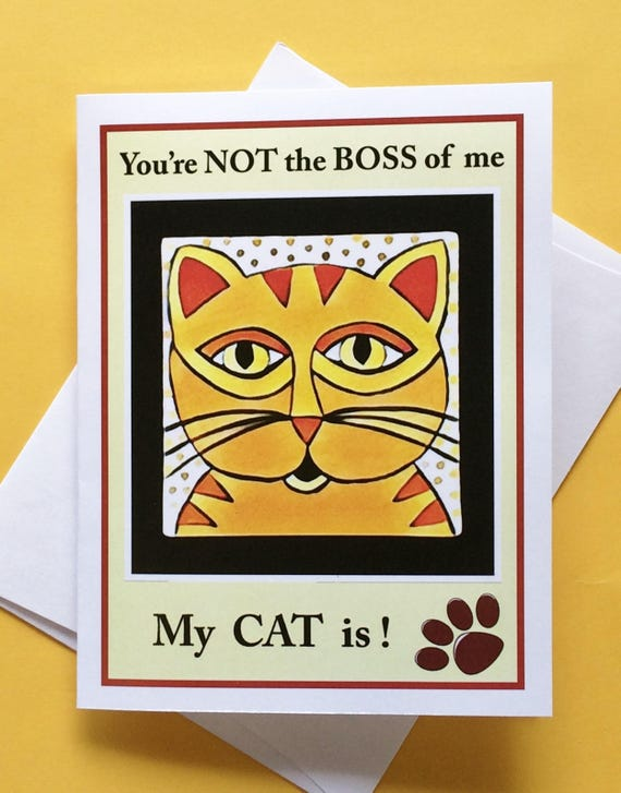 Cat Lover Card Cat Greeting Card Funny Cat Card Cat Card Etsy