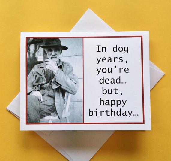 Scheda Di Compleanno Divertente Per Uomo Foto D Epoca Carta Di Compleanno Per Amico
