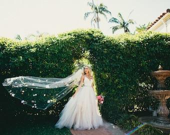 Custom Floral Wedding Veil