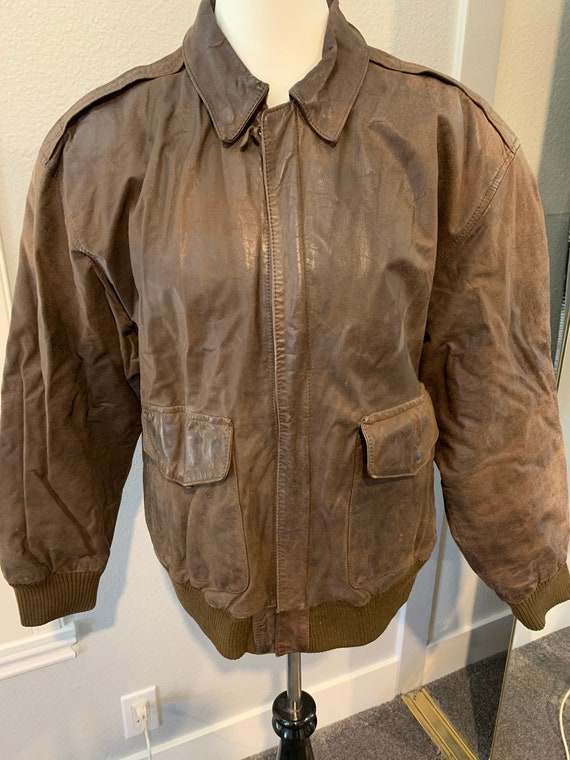 Vintage Leather Bomber