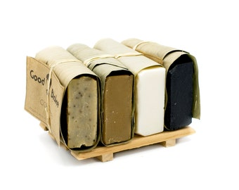 Gift Soap Pack - Free Shipping - Handmade Soap Vegan Soap Unscented Soap All Natural Soap Gift for Him Fragrance Free Soap Mens Soap Gift