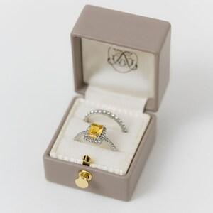 Handmade Vintage Antique Engagement Wedding Proposals Temple Ring Box Genuine Leather Monogrammed Velvet Ring Box Vintage Style DIANA