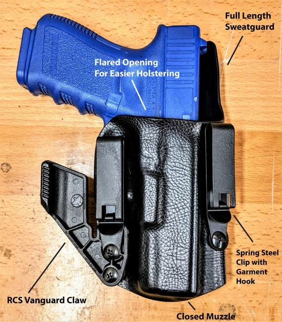 4-in-1 Holster IWB//AIWB Kydex Holster w// RCS Claw Appendix Adjustable Cant