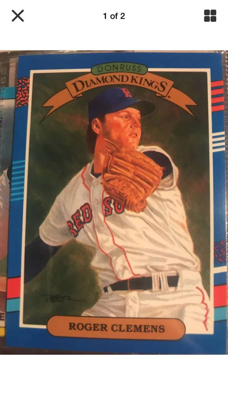 Rare 1990 Roger Clemens Baseball Card Donruss No 9
