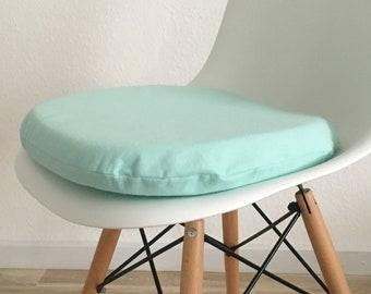 Seat cushion mint - seat cushion round eames - 6 cm height - mint - green - Eames chairs - bestseller pillow - chair cushion - cushion - felt -