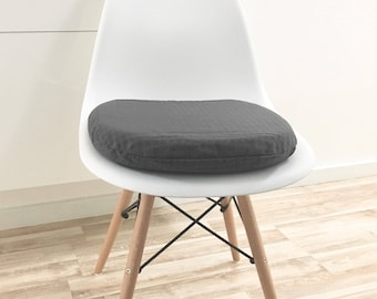 Anthrazit Sitzkissen   Eames Chair   Seat Pad   Reißverschluss    Innenkissen   Gepolstert   Stuhlauflage   Sitzkissen Eames   Polsterkissen