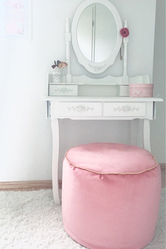 Wondrous Pink Beanbag Ottoman Seat Cushion Floor Cushion Styrofoam Ball Velvet Fabric Velvet Sofa Armchair Stool Pouf Ottoman Short Links Chair Design For Home Short Linksinfo