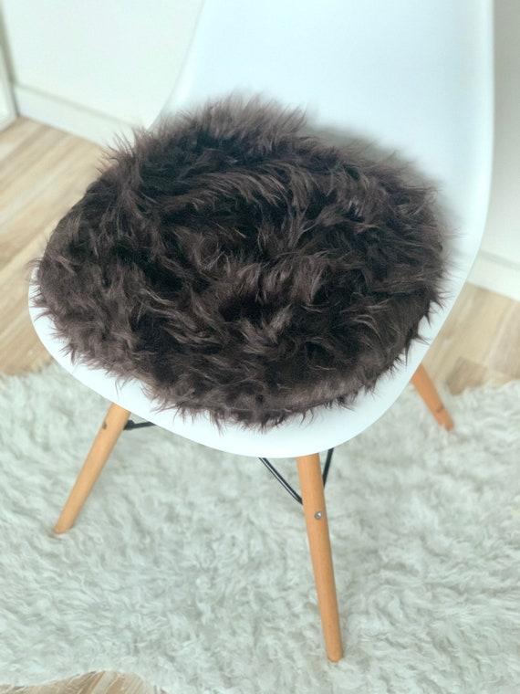 Black Chair Pillow-upholstered cushion-seat cushion Eames-upholstered pillow-plush pillow-plush fabric-fake fur-imitation fur