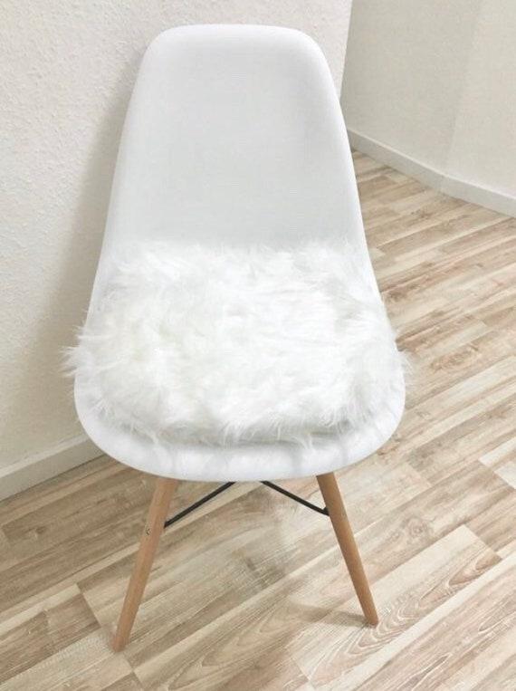 Weisses Stuhlkissen Rund Fur Eames Chair Sitzpolster Eames Gepolstert Kunstfell Stuhlauflage Stuhl Sitzkissen Eames Pad