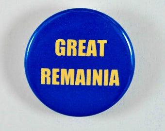 "Pinback 1"" Button Badge - Anti-Brexit Badge - pin button - EU badge - protest badge - political pin - protest button"