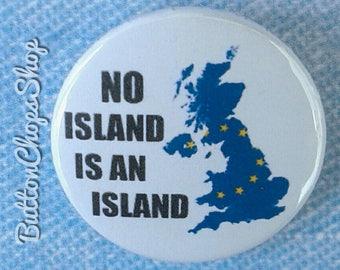"1"" Pinback button badge - Anti Brexit badge - pin button - EU badge - protest pin - lapel pin - political badge - protest button"