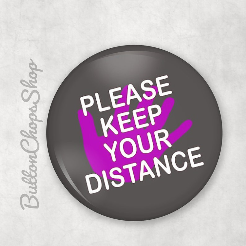 High risk pin Social distancing Please keep your distance image 0