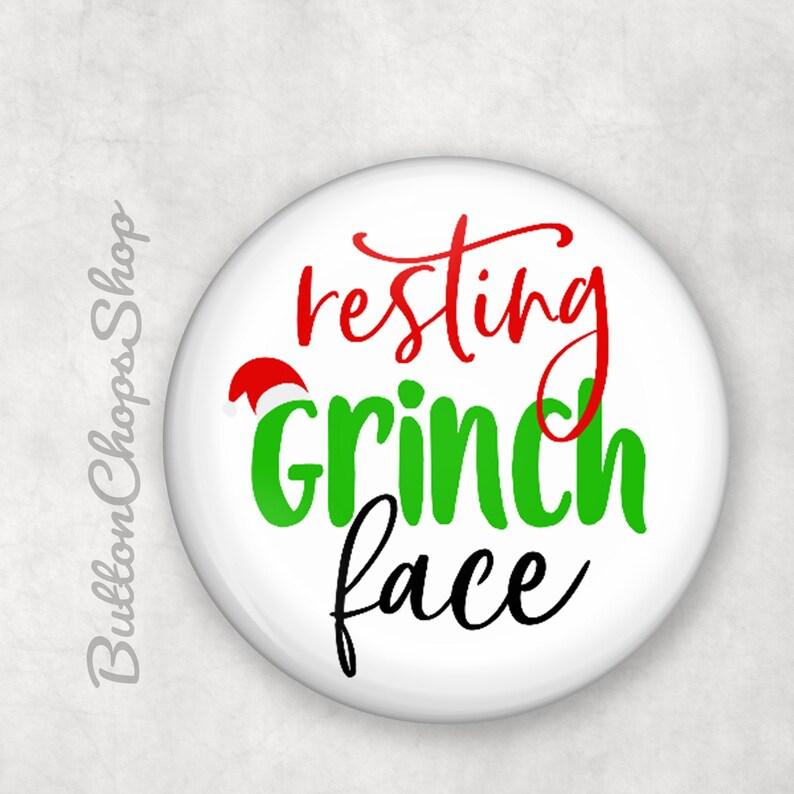 Christmas Grinch cracker fillers S  M  L size badge cracker image 0