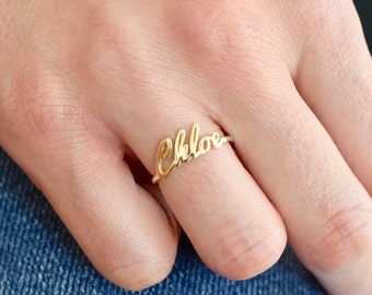 Gold Name Ring Etsy